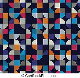 vettore, colorito, astratto, quadrato, fondo, futuristi, geometrico