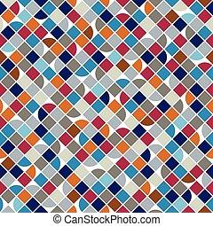 vettore, colorito, astratto, quadrato, luminoso, fondo, geometrico