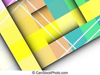 vettore, colorito, frames., fondo, abstract., geometric., quadrato