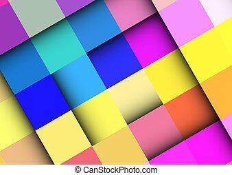 vettore, colorito, frames., fondo, geometric., quadrato, astratto