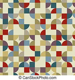 vettore, colorito, pockmarked, quadrato, fondo, abstrac, geometrico
