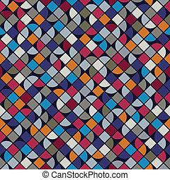 vettore, colorito, quadrato, fondo, abstrac, fractional, geometrico