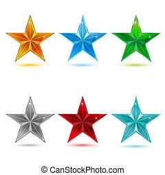 vettore, colorito, stelle