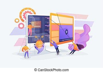 vettore, concetto, analisi, illustrazione, software