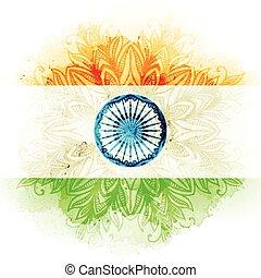 vettore, concetto, celebrations., acquarello, fondo., bandiera, indiano, giorno, indipendenza