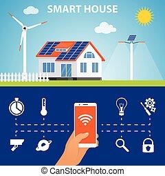 Condizionamento solare aria parola etichette astratto for Aprire piani casa concetto