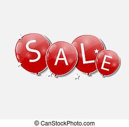 vettore, concetto, discount., illustration., vendita