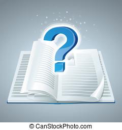 vettore, concetto, educazione, libro, icona
