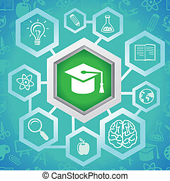 vettore, concetto, educazione