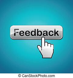 vettore, concetto, feedback, illustrazione