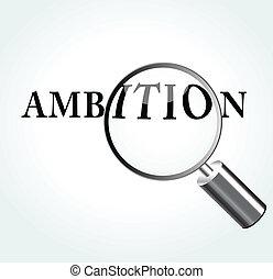 vettore, concetto, illustrazione, ambizione