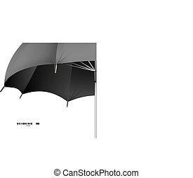 vettore, concetto, ombrello, protezione