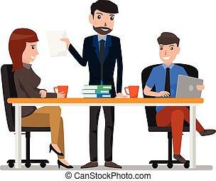 vettore, concetto, produttività, lavorativo, comunicazione...