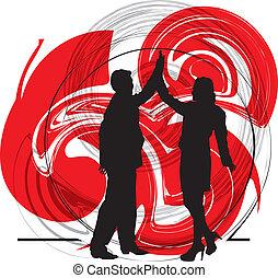 vettore, coppia., illustrazione