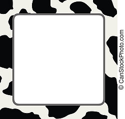 vettore, cornice, con, astratto, mucca, pelle, struttura