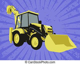 vettore, costruzione, camion