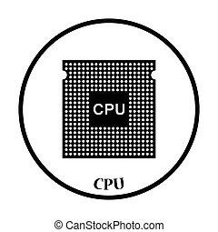 vettore, cpu, illustrazione, icona