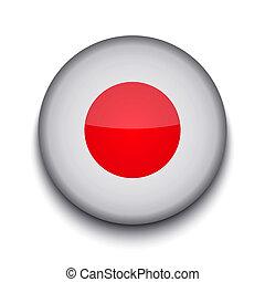 vettore, creativo, cerchio, bandiera, bianco, fondo., eps10