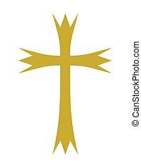 vettore, croce, illustrazione