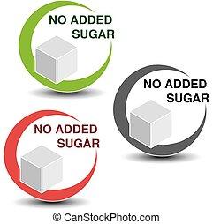 vettore, cubo, no, isolato, zucchero, simboli, fondo.,...