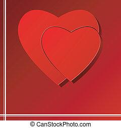 vettore, cuore, puzzle, fondo