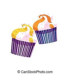 vettore, cupcake
