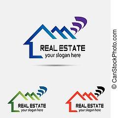 vettore, di, casa, logotipo