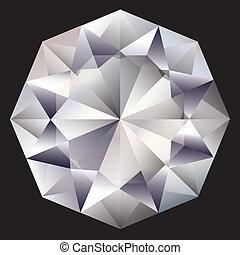 vettore, diamante
