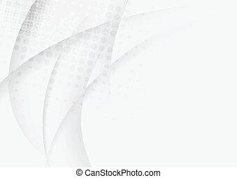 vettore, disegno, grigio, onde