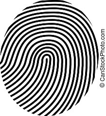 vettore, disegno, impronta digitale