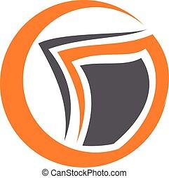 vettore, disegno, soluzioni, sagoma, logotipo, documento
