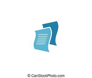 vettore, documento, icona