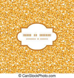vettore, dorato, baluginante, brillare, struttura, cornice, seamless, modello, fondo