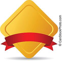 vettore, dorato, emblema