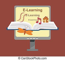 vettore, e-imparando, concetto