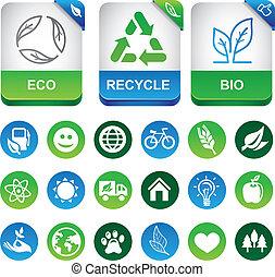 vettore, ecologia, elementi, infographics