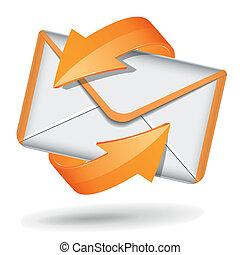 vettore, email, icona