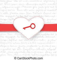 vettore, eps10, card., regalo, valentine, fondo, giorno