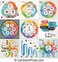 vettore, essere, usato, illustration., affari, workflow,...