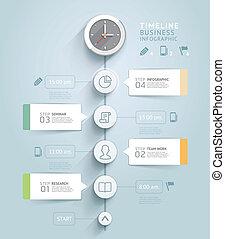 vettore, essere, usato, illustration., diagramma, workflow,...