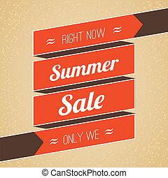 vettore, estate, manifesto, illustrazione, vendita