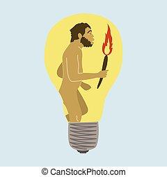 vettore, evoluzione, concetto, umanità, illustrazione