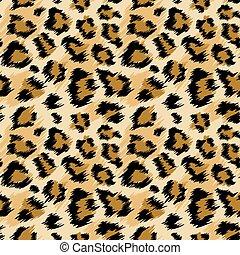 vettore, fabric., pelle, stilizzato, fondo, carta da parati, stampa, seamless, leopardo, illustrazione, moda, pattern., moda, maculato