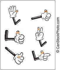 vettore, fasciatura, sangue, mano, dito, isolato, set, involvere, bianco, puddle., rosso, intonacare, ferito, adesivo, illustrazione, fondo.