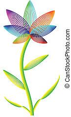 vettore, fiore bianco, fondo