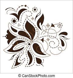 vettore, fiore, disegno