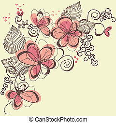 vettore, fiori