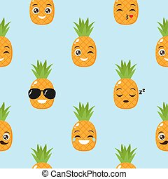 vettore, fondo, ananas