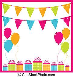 vettore, fondo, compleanno