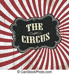 vettore, fondo, eps10, circo, classico